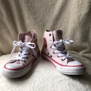 NWOT Converse high-top pink canvas sneakers
